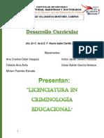 LICENCIATURA EN CRIMINOLOGIA EDUCACIONAL