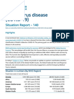 WHO COVID-19 Situation report June 8, 2020