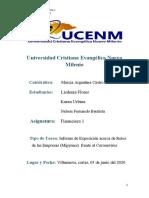 Informe de Exposicion de Financiera 1-Financiera 1