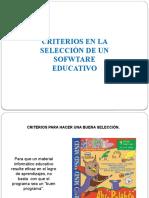 criterios de seleccion de un software educativo