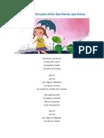 Letra de la canción para niños Que llueva.docx