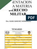PRESENTACION DE LA MATERIA DER. MILITAR 2019 1