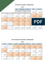 New York Mets 2011 Schedule - MLB Fantasy Baseball - National (NL) League