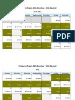 Pittsburgh Pirates 2011 Schedule - MLB Fantasy Baseball - National (NL) League