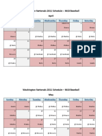 Washington Nationals 2011 Schedule - MLB Fantasy Baseball - National (NL) League