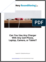 Can You Use Any Charger With Any Cell Phone, Laptop, Camera, or Tablet?