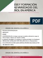 GÉNESIS Y FORMACIÓN DE LAS VARIEDADES DEL ESPAÑOL-convertido