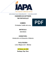 PORTAFOLIO EDUCACION A DISTANCIA - 2020 - Christopher UAPA