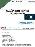 demandas de servicios de saneamiento