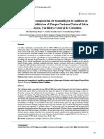 Estructura y composición de ensamblaje de anfibios