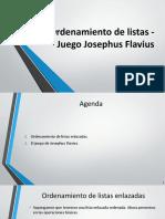 Presentación-05-Ordenamiento de listas, Josephus Flavius.pptx