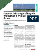 9. Prospectiva de las energías eólica y solar fotovoltaica en la producción de energía eléctrica