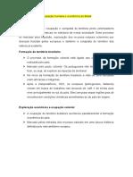 Ocupação humana e econômica do Brasil