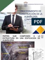 PROCEDIMIENTO CONSTRUCTIVO DE LA ALBAÑILERIA CONFINADA