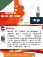 Gestión de las emociones en tiempos de aislamiento social 2020-I
