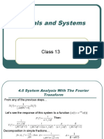 Signals and Systems Class 13