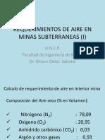 REQUERIMIENTOS DE AIRE EN MINAS SUBTERRANEAS (I
