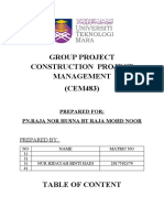 GROUP PROJECT CONSTRUCTION  PROJECT MANAGEMENT
