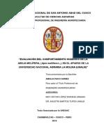 EVALUACIÓN DEL COMPORTAMIENTO HIGIÉNICO DE LA ABEJA MELÍFERA, (Apis mellifera L.), EN EL APIARIO DE LA UNIVERSIDAD NACIONAL AGRARIA LA MOLINA (UNALM) 85 paginas