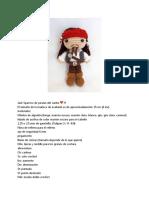 Jack Sparrow de piratas del caribe