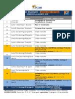 Caledario Modalidad virtual Modificado SEGUNDO Periodo 2020