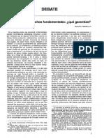 Pissarello, Ferrajoli y los derechos fundamentales