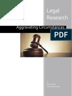 Aggravating Circumstances Report