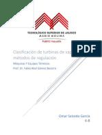 Clasificación de turbinas de vapor y métodos de regulación