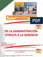 T1. De la Administración Pública a la Gerencia