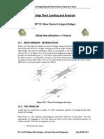 M54 Unit 10 Skew Deck & Intergral Bridges