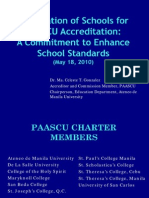 PAASCU Accreditation Dr Gonzales