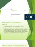 ARGUMENTACIÓN JURIDICA diapositivas