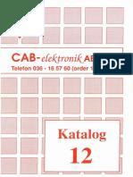 CAB Elektronik Katalog Nr 12