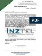 Carta de presentación INZTELSAC 2020