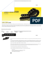 Elektromag Plastic and Steel Cable Drag Chains and Spring operated Cable Reels Hose Reels
