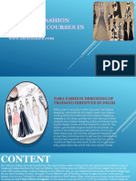 Zara Fashion Designing Courses Institute Training