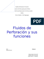 Fluidos de Perforación y funciones
