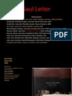 Leiter Saul bibliografia