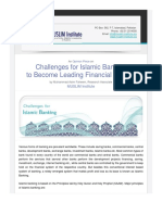 Challenges for Islamic Banking