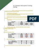 Contoh Soal dan Jawaban Absorption Costing dan Variabel Costing