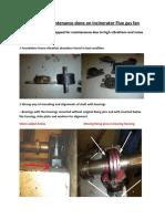 Report for maintenance of Flue gas fan