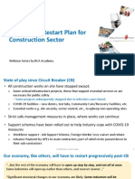 Covid 19-safe industry to restart