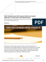 CBSE Class 10 Maths_ chapter 9 Applications of Trigonometry MCQ with Answers PDF.pdf