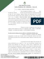 K., C. A. c- OSDE s- prestaciones medicas - CÁMARA FEDERAL DE CÓRDOBA – 08-10-2019