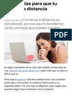 Ocho reglas para que tu relación a distancia funcione | Amor | Consejos Actitud Viù | El Comercio Pe