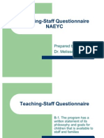 Teaching Staff Questionnaire