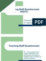 Teaching Staff Questionnaire