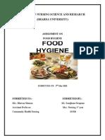 FOOD HYGIENE ASSIGNMENT