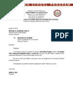 letter for JDVP