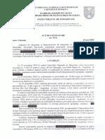 Actul de constatare al ANI, cu privire la încălcările admise de viceprimarul de Comrat, Sarî Gheorghi
